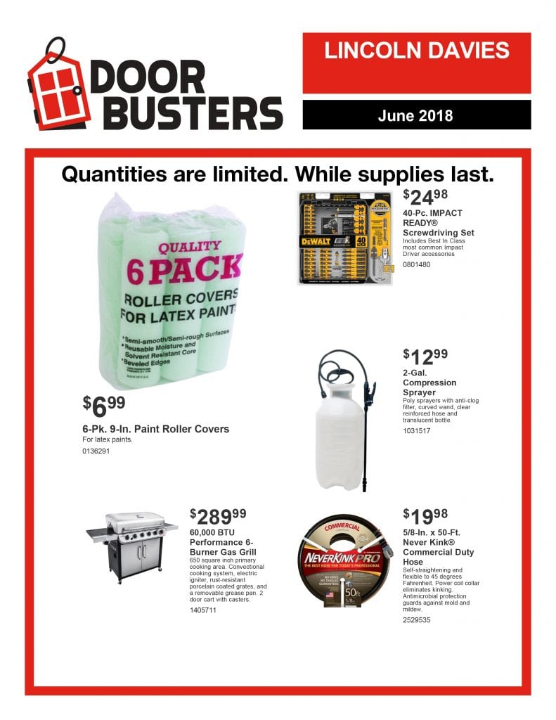 June 2018 Door Busters